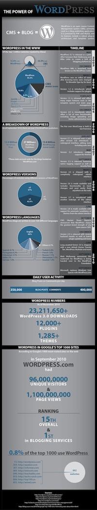 wordpress world, power of wordpress Infographic, www.blogsitestudio.com