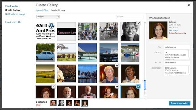 create gallery, blogsitestudio.com