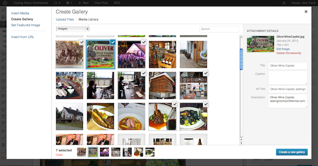 create gallery, http://blogsitestudio.com/how-to-manage-photos-in-wordpress-3-5/