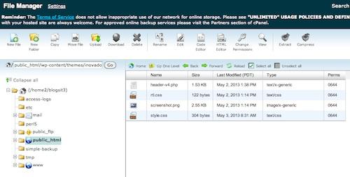 file manager, blogsitestudio.com