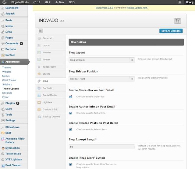 theme options, install a theme, tastingroomconfidential.com