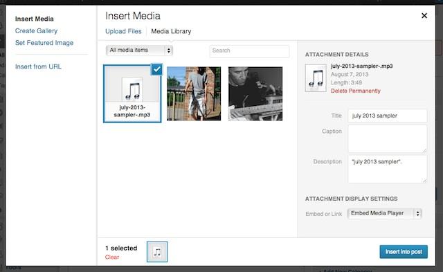 insert media, blogsitestudio.com