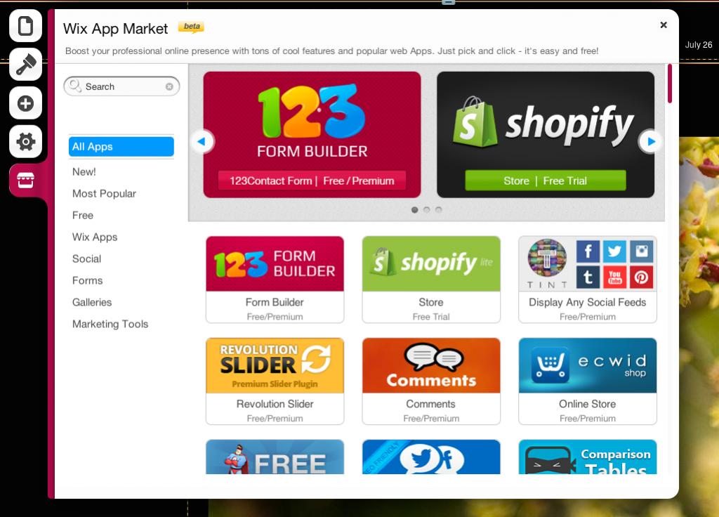 wix app market, blogsitestudio.com
