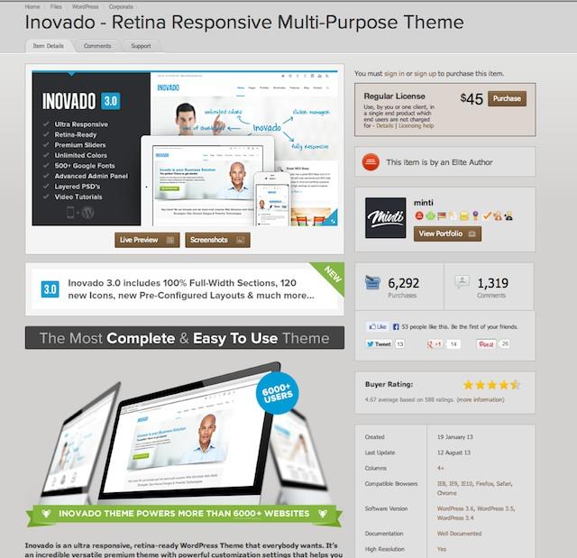 inovado, kick ass WordPress theme, blogsitestudio.com