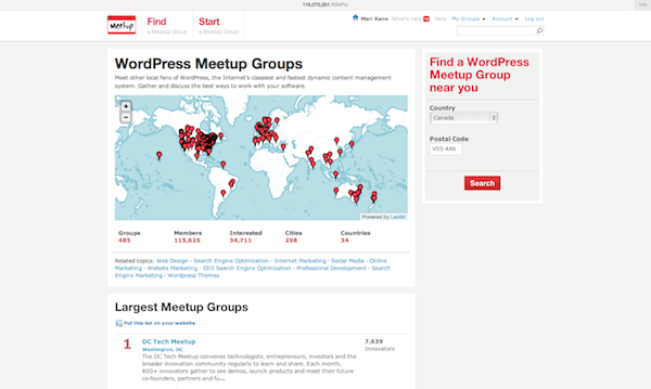 wordpress meetups