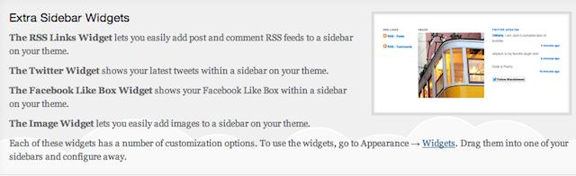 extra sidebar widgets