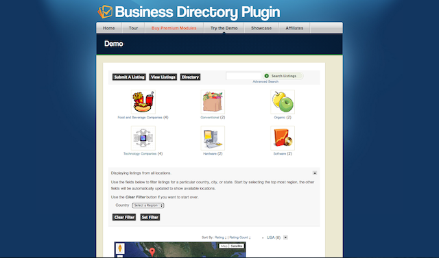 biz directory plugin, blogsitestudio.com