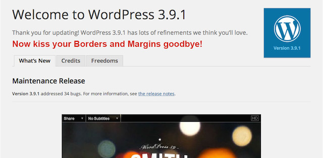 Things I hate about WordPress 3.9