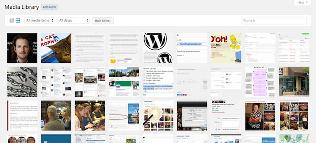 Wordpress 4.0 media library, http://blogsitestudio.com/?attachment_id=6717