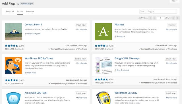 wordpress 4.0 plugins