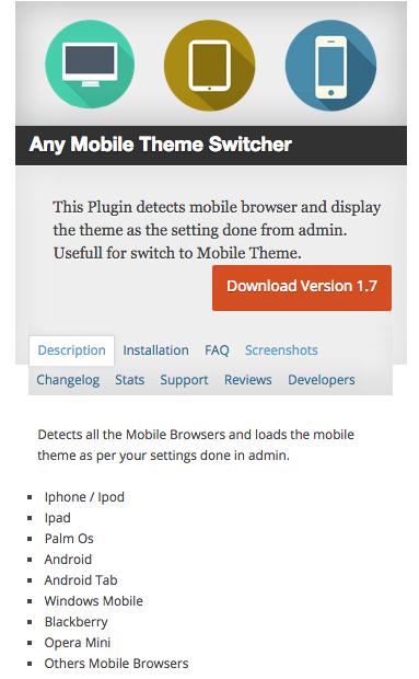 optimize for smartphones plugin