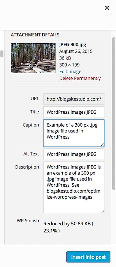 optimize images attachment details