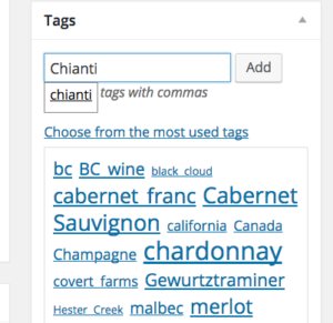 Tag cloud Categories and Tags
