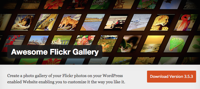 awesome flickr gallery WordPress Photo Plugins