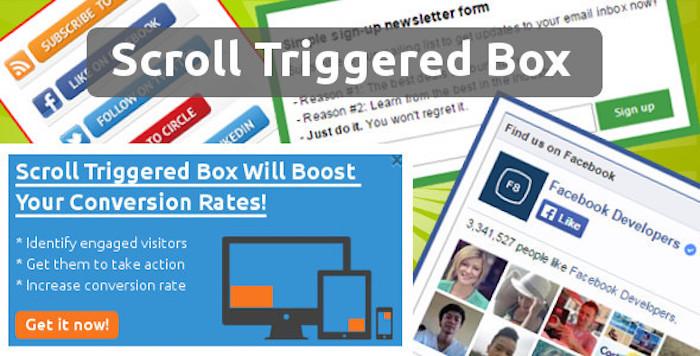 scroll triggered box