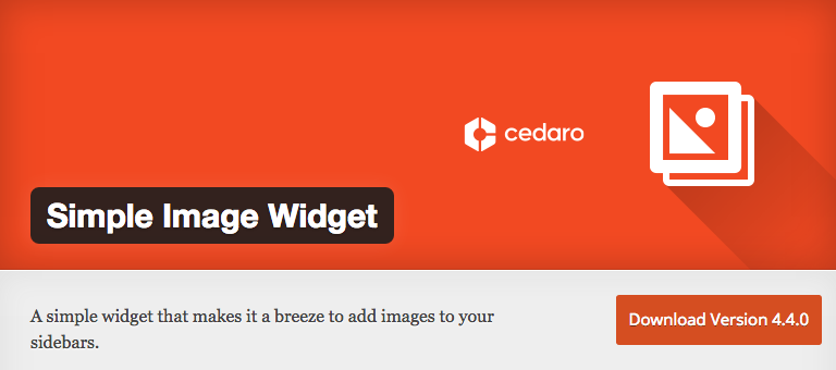 simple image widget WordPress Photo Plugins