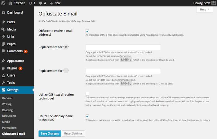 obfuscate email plugin