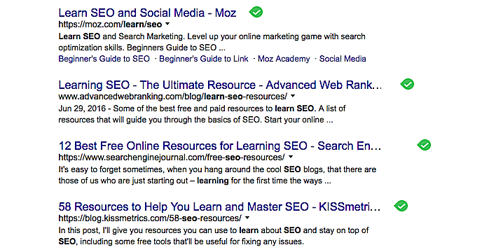 learn seo google search results
