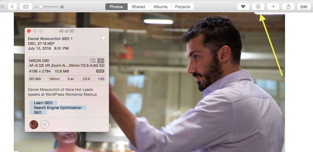 learn seo jpeg metadata iphoto