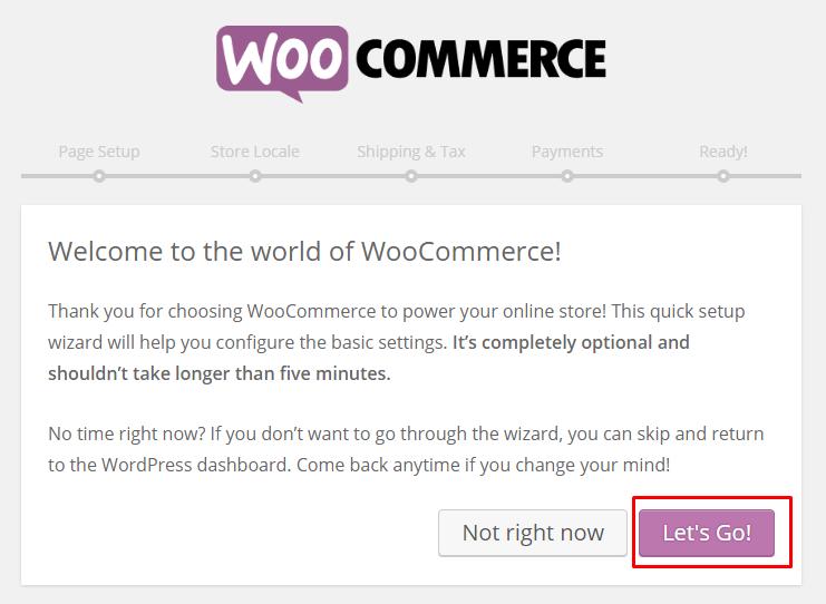 Woocommerce let's go