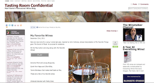 screen shot tastingroomconfidential.com