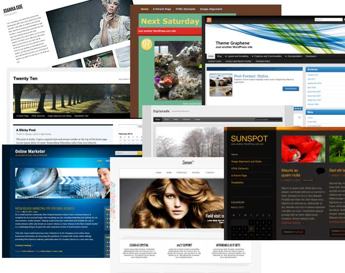 how to choose a free wordpress theme, www.blogsitestudio.com