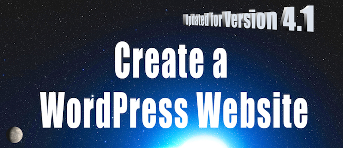 create a wordpress website 4.1