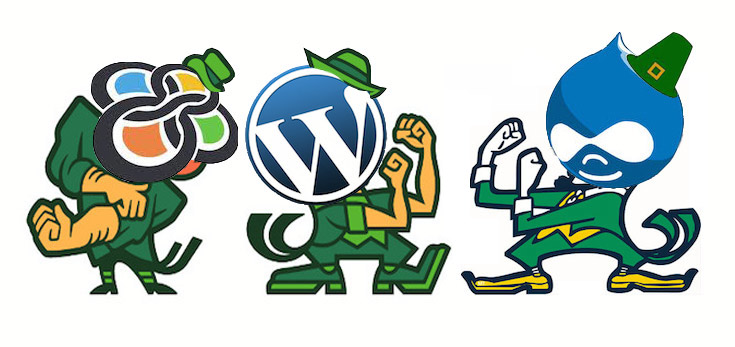 WordPress, Drupal and Sitefinity in St. Patrick's Day CMS Shootout