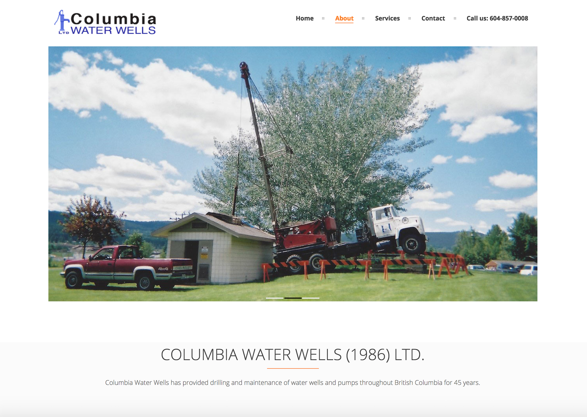 columbia water wells home