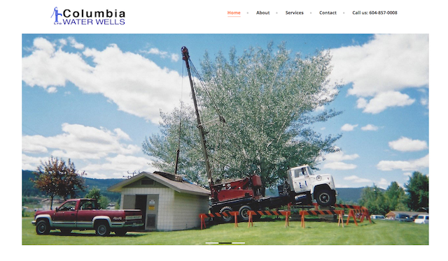 Blogsite studio portfolio, columbia water wells home