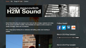 Blogsite studio porfolio, howie moscovitch H2M sound