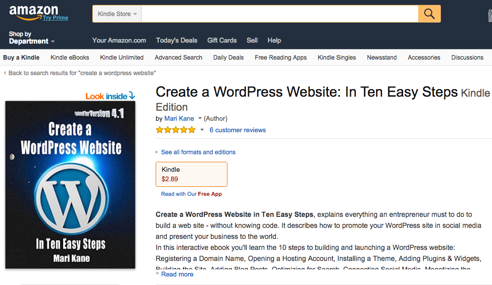 create a wordpress amazon