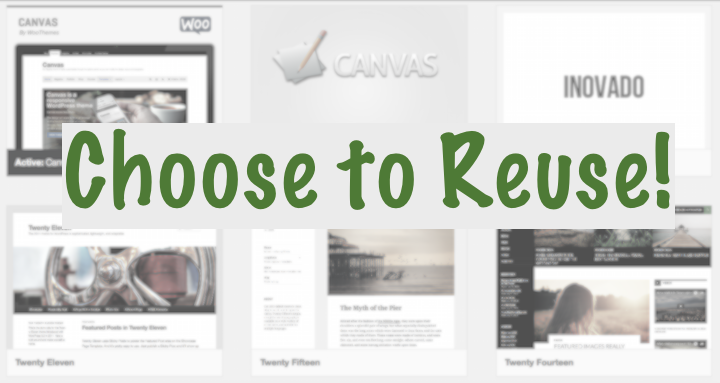 choose to reuse wordpress themes