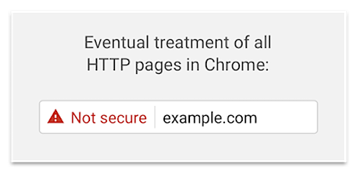 HTTp pages in chrome