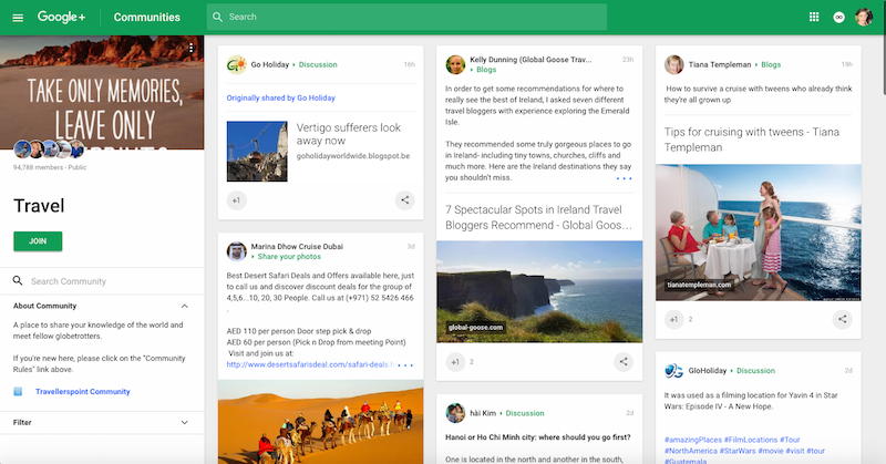 Google + Travel
