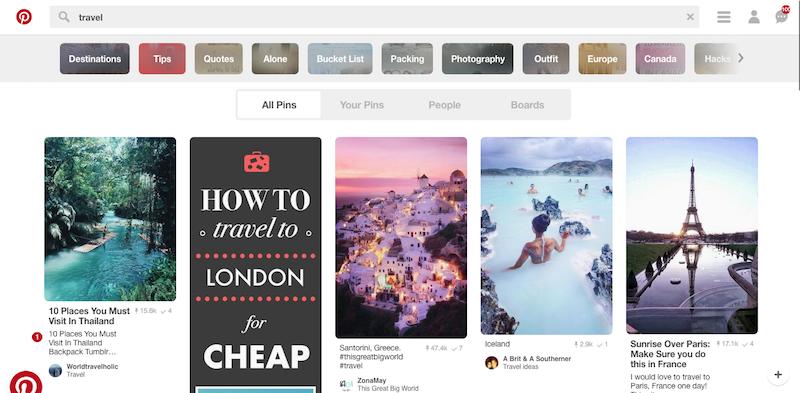 Pinterest travel