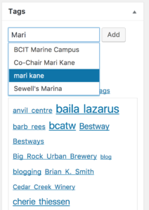 wordpress bcatw tags