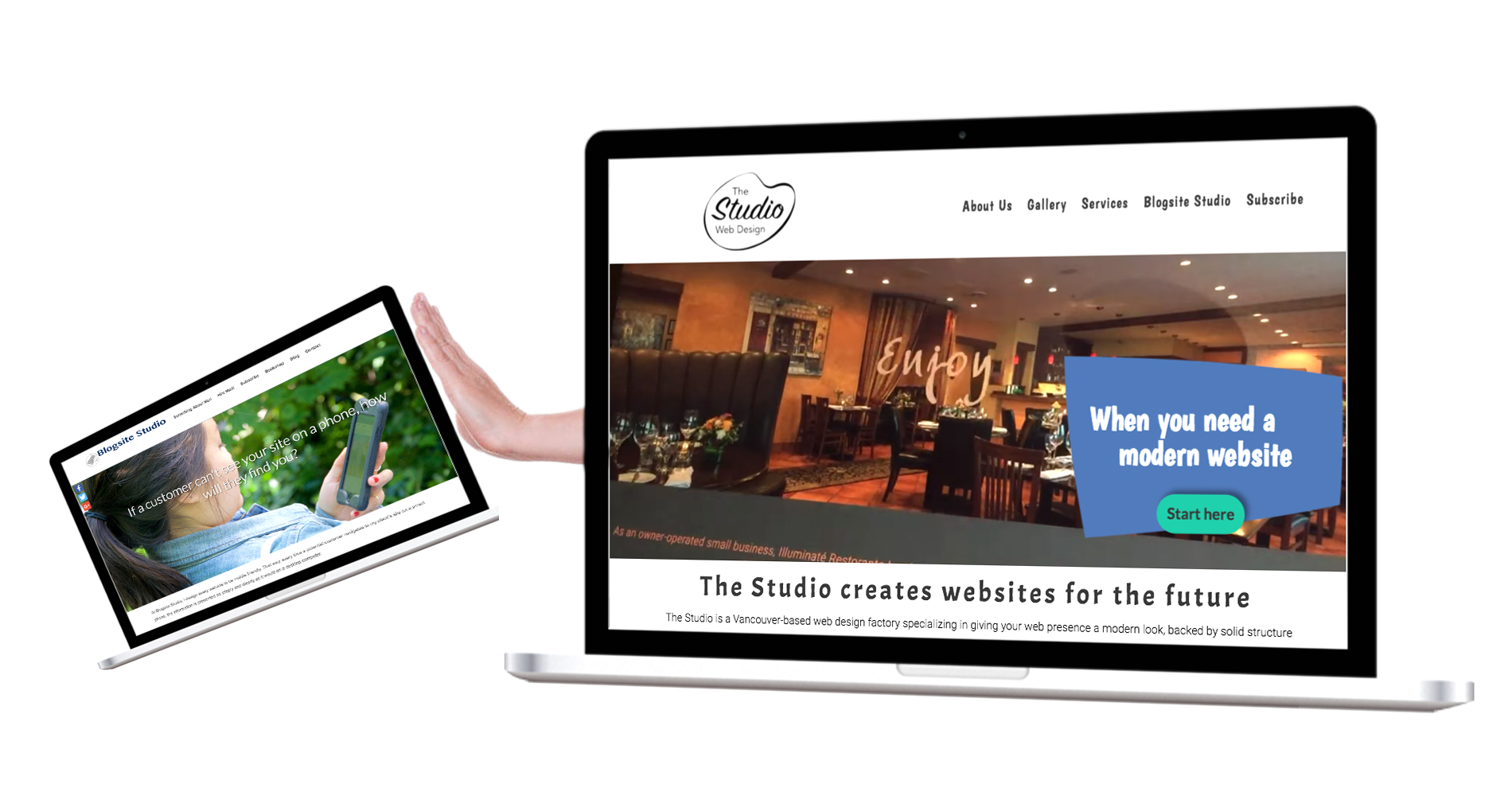 Website redesign of The Studio