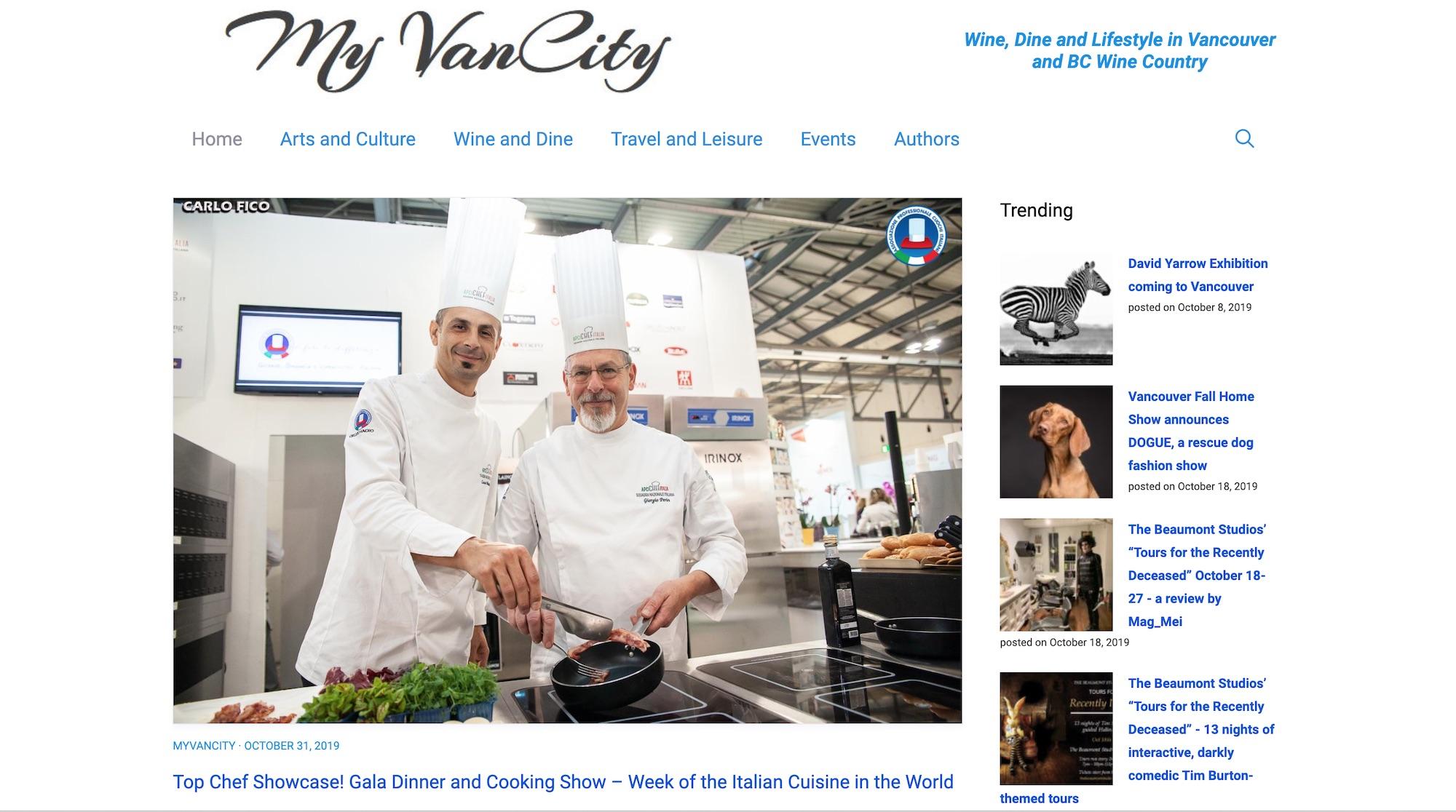 My VanCity Home page.10.19