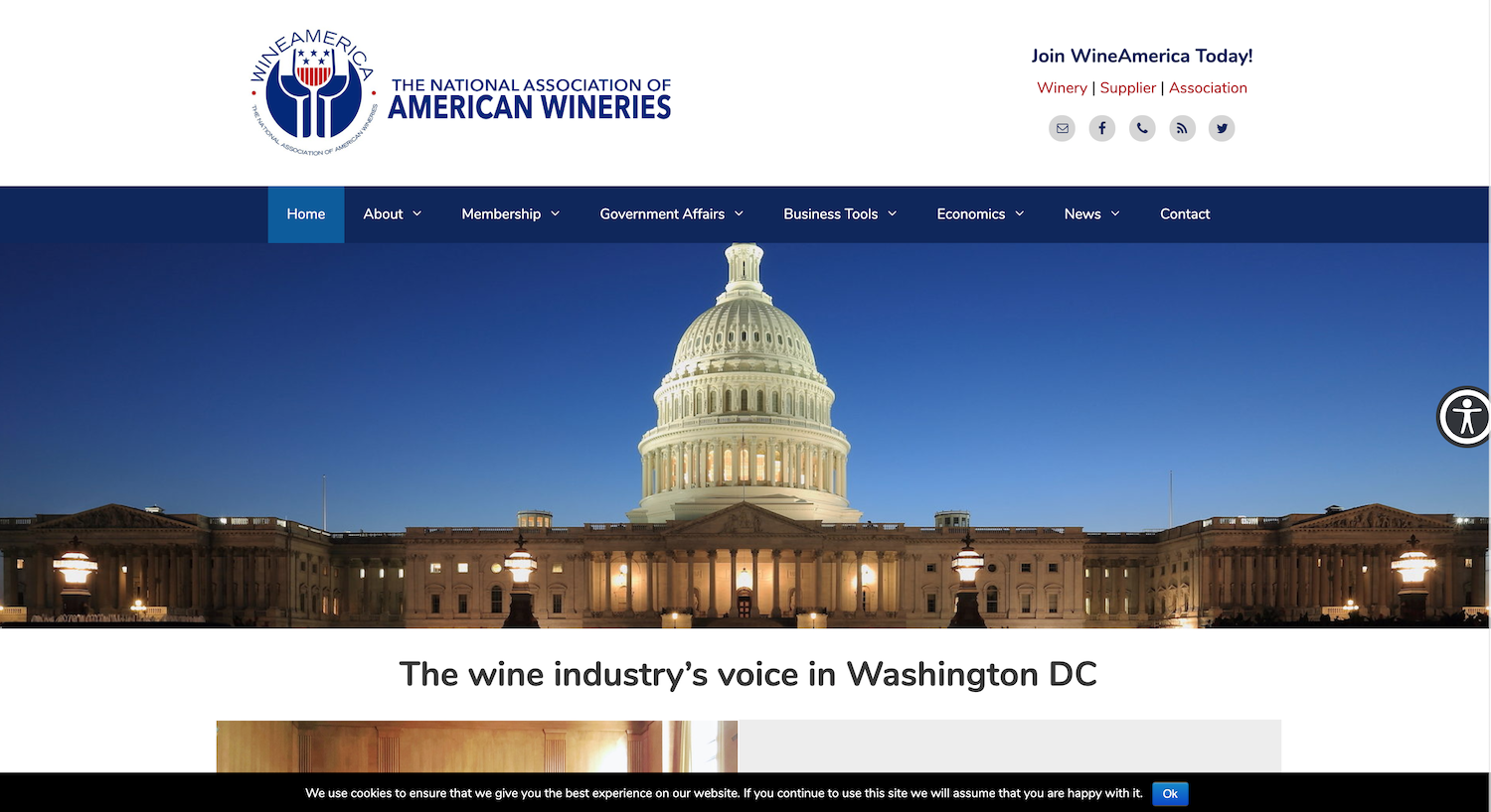 WineAmerica new home page